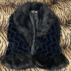 Y2k black fur coat 🖤